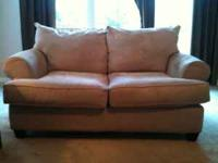 Beautiful tan micro fiber couch and love seat purchased
