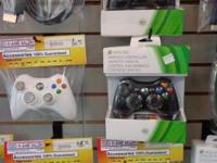 We have NEW in the box BRAND NAME Xbox 360 controllers