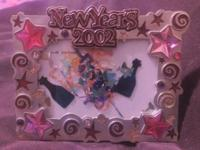 Quality made silver New Year's Eve 2002 Frame