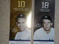 I have Two real nice Yankee Tickets for this Monday's