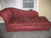 "fainting couch newer style it is only 4' 3"" but is"