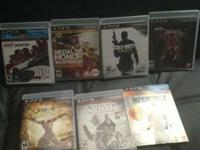 I am selling the following 7 games for ps3 in perfect