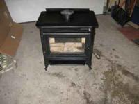 """Safe modern woodstove accepts 19"""" logs, rated at 20,000"""