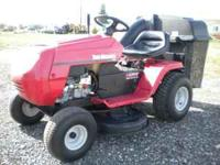 This is a newer Yard machine riding mower with low