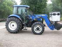 NEW HOLLAND TD80D 80HP 4X4 820TL LOADER LIKE NEW