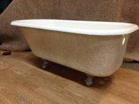 Beautiful newly refinished claw foot tub!  Feel free to