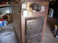 Model WG100 Newmac wood or coal hot air furnace, stand
