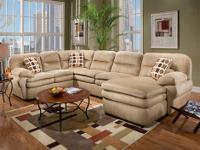 This is the Shiloh Mocha 3-piece sectional by Newport,