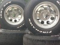 "I have four Nexen 20"" tires with rims I want to sell."
