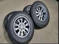Great set of wheels and tires. The tires are Roadian