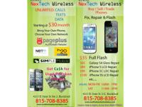 We fix cell phone repair screens sell and trade and you