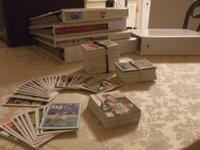 NFL FOOT BALL CARD LOT w/1800+ CARDS ? AGE: 1990's ?