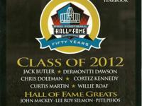 NFL Hall Of Fame 2012 Official Yearbook with removable