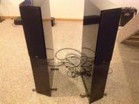 Excellent condition NHT tower speakers and amplifiers
