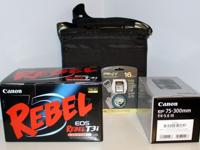 Canon EOS Rebel T3i 18.0 MP DSLR Camera + 18-55mm Lens