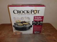 n/w hou NEW IN BOX This Crock-Pot Triple Dipper Warmer