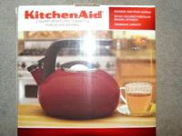 Brand new in box.  Red KitchenAid Tea Kettle $30obo.