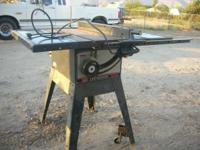 This is a Craftsman table saw. It is 1HP, 10 inch,