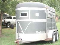 Nice 12ft stock combo trailer, has divider to make it a