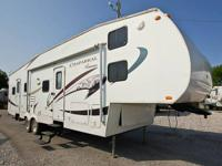 2008 Coachman Chaparral bunk house with 1.5 baths. 2