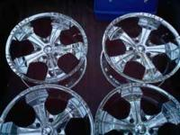 This is a set of four Chrome rims 20x9 with a 5x135mm