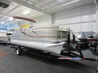 NICE 2013 QWEST 820 LS PONTOON WITH ONLY 33 ENGINE