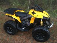 Super nice 2015 Can-Am Renegade 1000 4x4. Just 1100
