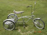 NICE ALL CHROME 3 WHEEL TRIKE WITH SPRINGER FRONT END