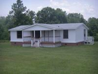 3BR/2BA Doublewide SECLUDED on 3 acres. Square feet: