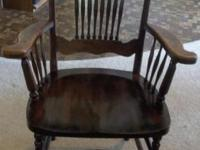 Beautiful hardwood Antique Chair with Tag. The tag