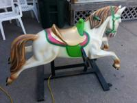 NICE FULLY WORKING HORSE KIDDIE RIDE. IF YOU ARE
