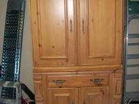 Nice Armoire, All wood very sturdy  two piece. top