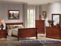 Sleigh beds are in: Get this complete luxury queen set