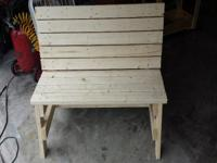 Very nice bench for your back porch or front yard.