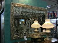 Lovely mirror with excellent, elegant frame. Measures