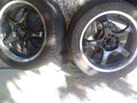 ASKING 350 OBO FOR ALL (4) RIMS AND TIRES IN GOOD
