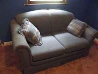 Two blue couches, they are in pretty decent conditon,
