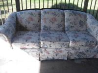 Nice Broyhill sofa for sale . Off white floral print.