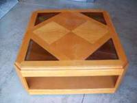Coffee table 38 inches square 17 inches high on