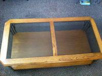 Very fine, well made oak-style coffee table for sale