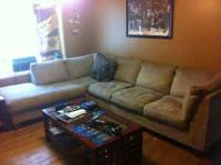 This is a very nice microfiber couch! it dose have very