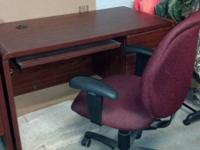 Selling 2 cherry stained desks w / file drawer and