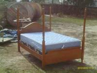 I have a really nice full size 4 poster bed for sale,