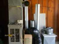 80 % efficient gas furnace with propane tank attachment