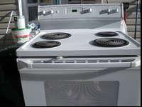 White GE electric stove for sale. In good condition. If