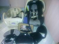 nice and clean graco car seat with base. mirror for