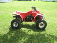 For sale a 1988 honda trx 250R. This device is in