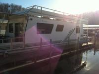 "HOUSEBOAT FOR SALE 45x12ft 9"" wide Myacht by Bass"
