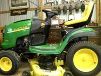 Like new john deere riding mower. im selling it for my