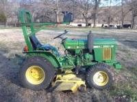 JOHN DEERE 650 DIESEL WITH POWER STEERING THIS TRACTOR